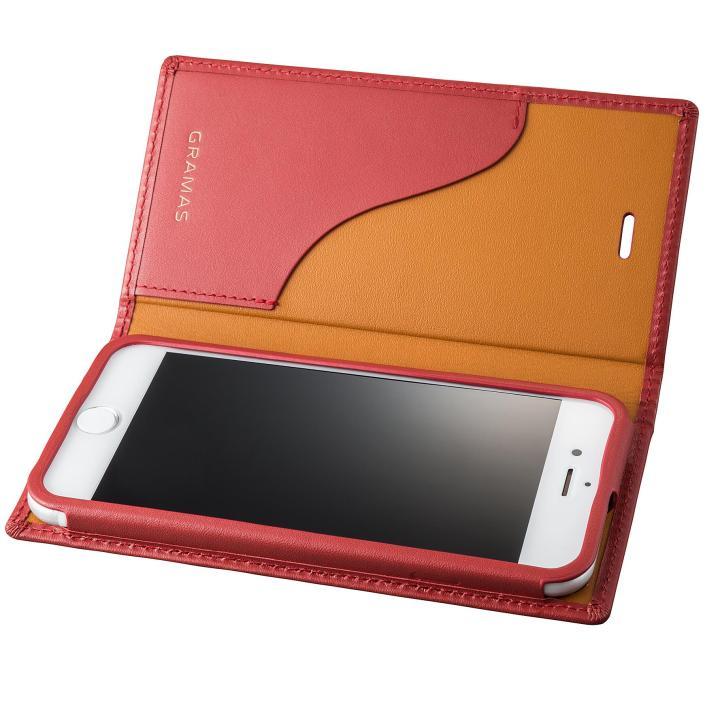 iPhone8/7 ケース GRAMAS フルレザー手帳型ケース  レッド iPhone 8/7_0