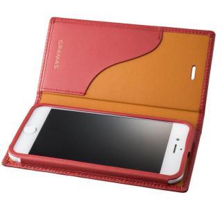 GRAMAS フルレザー手帳型ケース  レッド iPhone 7