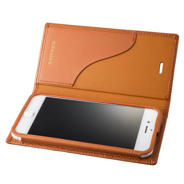 GRAMAS フルレザー手帳型ケース タン