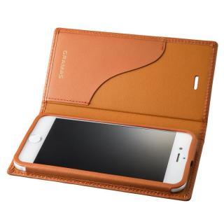 GRAMAS フルレザー手帳型ケース  タン iPhone 8/7