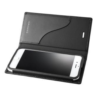 GRAMAS フルレザー手帳型ケース  ブラック iPhone 7【10月上旬】