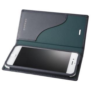 GRAMAS フルレザー手帳型ケース  ネイビー iPhone 7