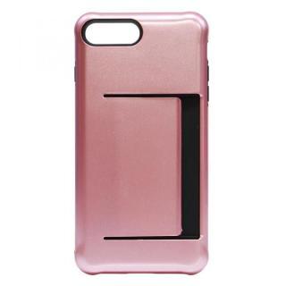 カードホルダー付耐衝撃ケース ローズゴールド iPhone 7 Plus