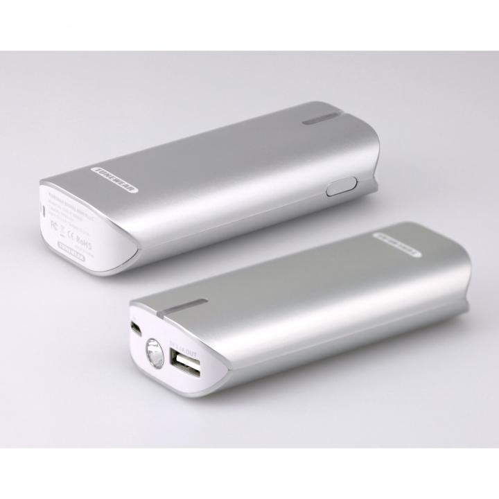 [6000mAh]モバイルバッテリーTUNEMAX BARREL 6000 Plus パールシルバー_0