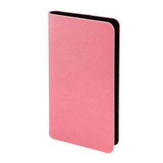 多くのスマートフォン機種対応 PUレザー手帳型ケース ピンク iPhone Android