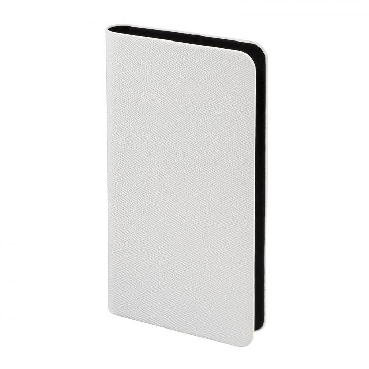多くのスマートフォン機種対応 PUレザー手帳型ケース ホワイト iPhone Android
