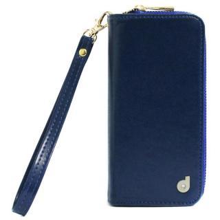dreamplus Zipper お財布付き手帳型ケース ネイビー iPhone 7