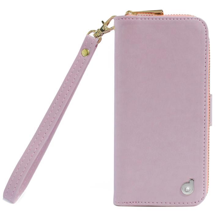 【iPhone7ケース】dreamplus Zipper お財布付き手帳型ケース ピンク iPhone 7_0