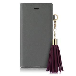 dreamplus タッセルジャケットケース グレー iPhone 7