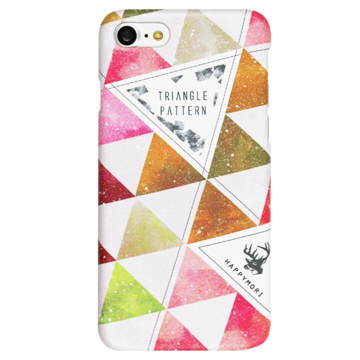 Happymori トライアングルパターンケース ピンク iPhone 7