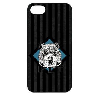 Dparks ブラックケース 檻の中のブルドッグ iPhone 7