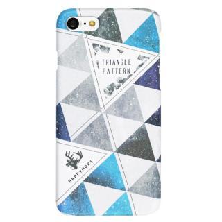 Happymori トライアングルパターンケース ブルー iPhone 7