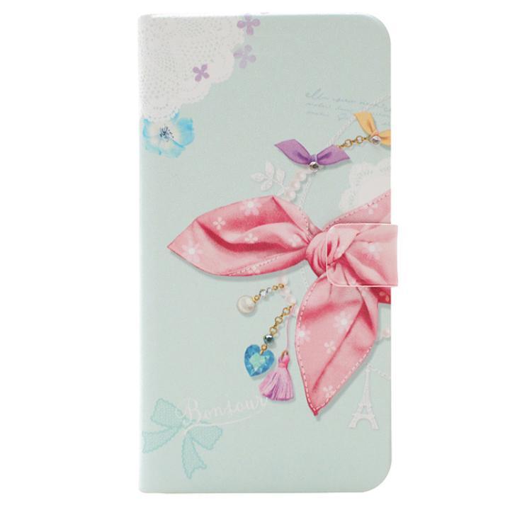 Happymori ドットスカーフ手帳型ケース ピンクスカーフ iPhone 7