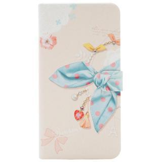 Happymori ドットスカーフ手帳型ケース ブルースカーフ iPhone 7