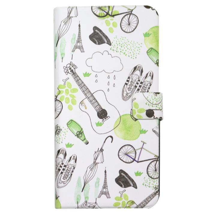 iPhone7 ケース Happymori フレンチカフェ手帳型ケース グリーン iPhone 7_0