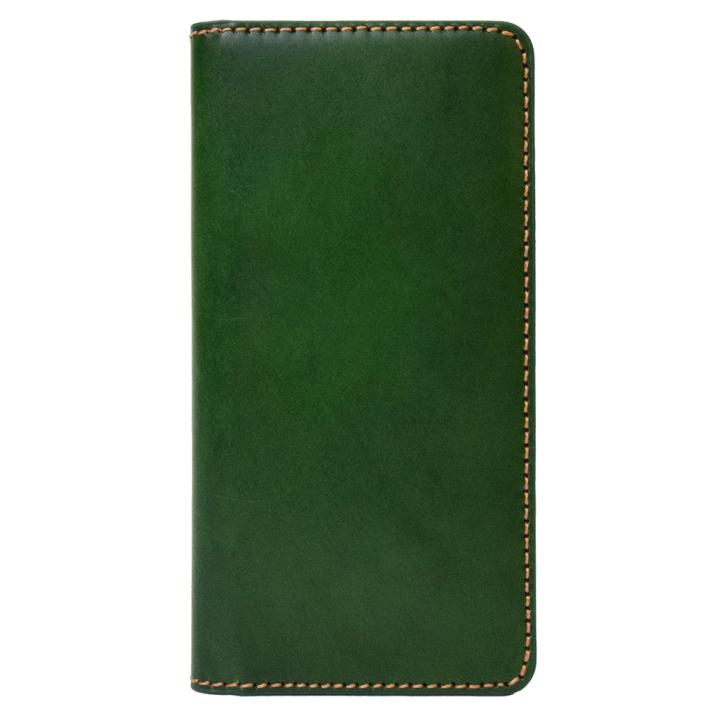 iPhone8/7 ケース LAYBLOCK Tuscany Belly トスカーナレザー手帳型ケース  グリーン iPhone 8/7_0