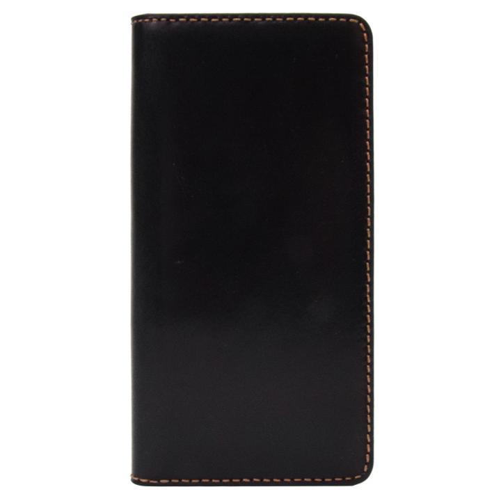 【iPhone8/7ケース】LAYBLOCK Tuscany Belly トスカーナレザー手帳型ケース  ブラック iPhone 8/7_0