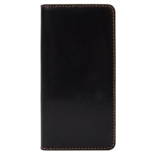 【iPhone8/7ケース】LAYBLOCK Tuscany Belly トスカーナレザー手帳型ケース  ブラック iPhone 8/7