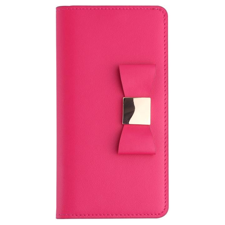 【iPhone7ケース】リボンクラシック手帳型ケース ホットピンク iPhone 7_0