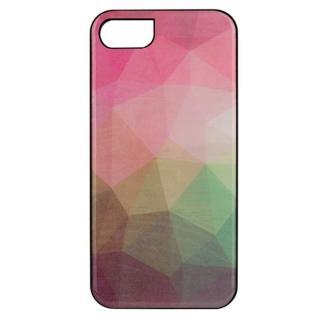 天然貝ハードケース ウォーターフラワー/ブラックフレーム iPhone 7