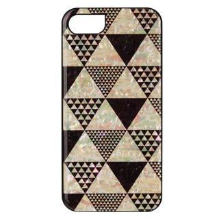 天然貝ハードケース ピラミッド/ブラックフレーム iPhone 7