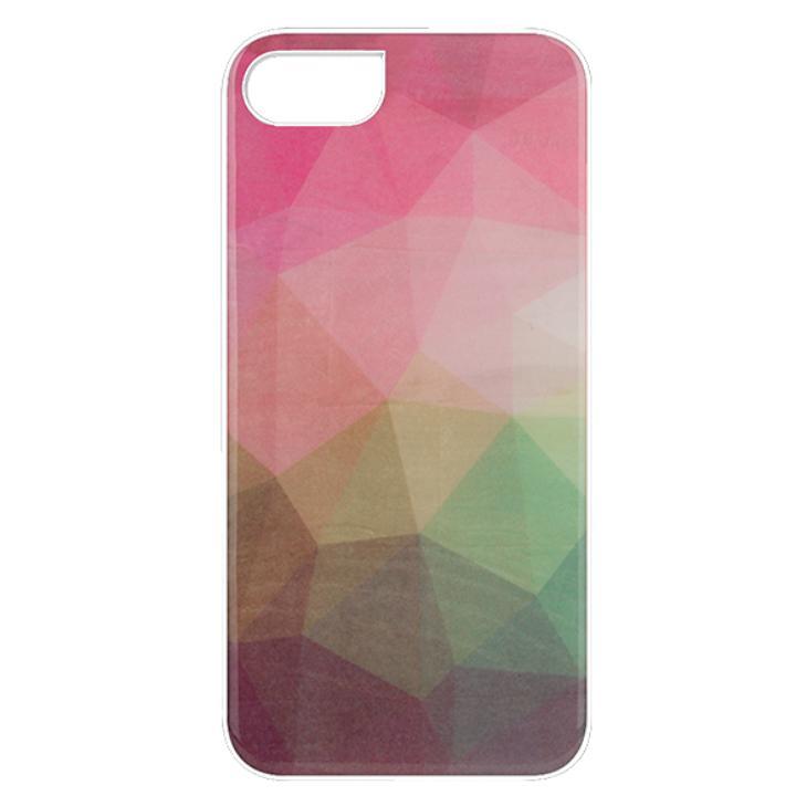 天然貝ハードケース ウォーターフラワー/ホワイトフレーム iPhone 7