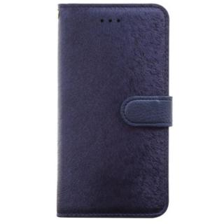 HANSMARE カーフ手帳型ケース ネイビーブルー iPhone 7