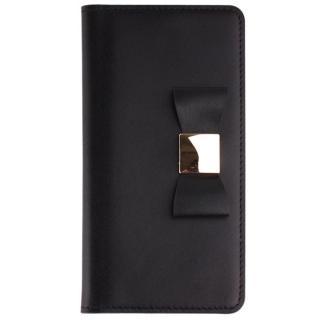 リボンクラシック手帳型ケース ブラック iPhone 7