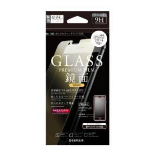 液晶保護強化ガラス ミラーゴールド iPhone 6強化ガラス