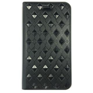 iPhone6s ケース アーガイル柄 エンボス加工手帳型ケース ブラック iPhone 6s