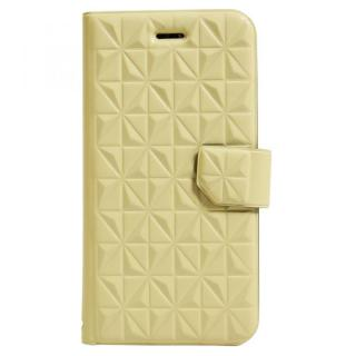 iPhone6s ケース アーガイルレリーフ柄 エンボス加工手帳型ケース クリーム iPhone 6s