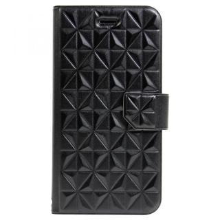 【iPhone6sケース】アーガイルレリーフ柄 エンボス加工手帳型ケース ブラック iPhone 6s