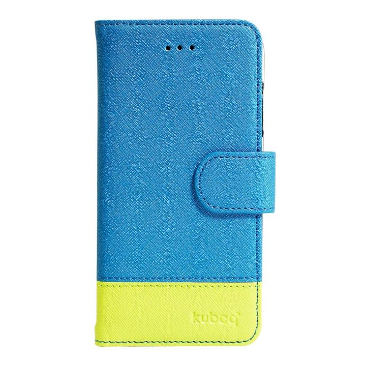 ミラー付手帳型ケース ブルーグリーン iPhone 6s