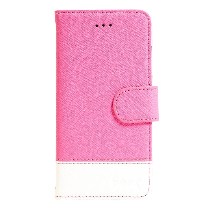 iPhone6s ケース ミラー付手帳型ケース ピンク・ホワイト iPhone 6s_0