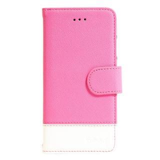 ミラー付手帳型ケース ピンク・ホワイト iPhone 6s