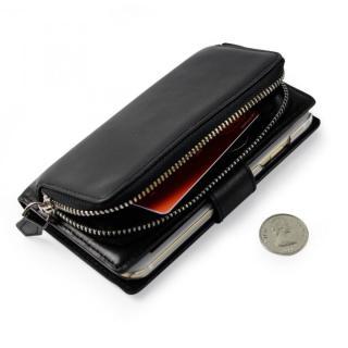 iPhone6s Plus/6 Plus ケース コインケース付本革手帳型ケース ブラック iPhone 6s Plus/6 Plus