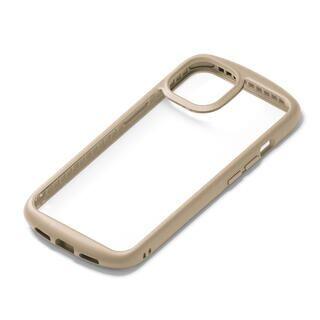 iPhone 13 ケース ガラスタフケース ラウンドタイプ ベージュ iPhone 13