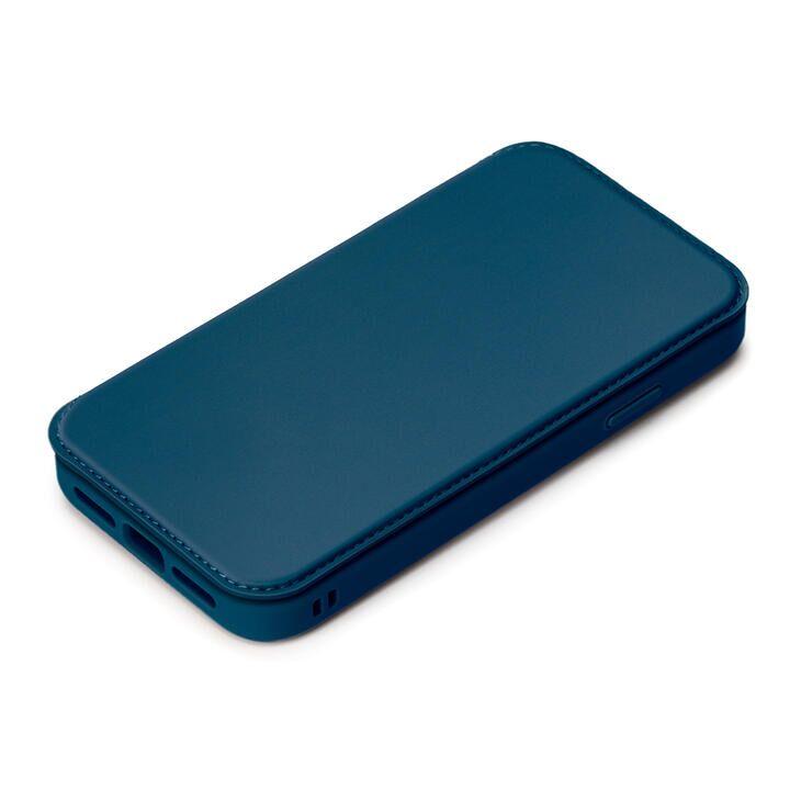 ガラスフリップケース ネイビー iPhone 13_0