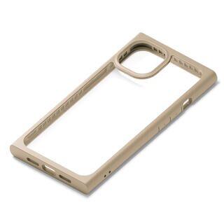 iPhone 13 ケース ガラスタフケース スクエアタイプ ベージュ iPhone 13