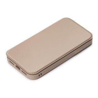 iPhone 13 ケース ガラスフリップケース ベージュ iPhone 13