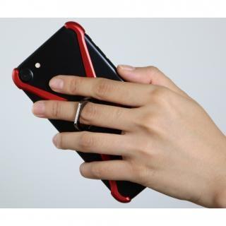 【iPhone8/7/6s/6ケース】CRYSTAL ARMOR  X Ring アルミバンパー ブラック×レッド iPhone 8/7/6s/6_2