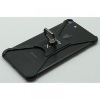 【iPhone8/7/6s/6ケース】CRYSTAL ARMOR  X Ring アルミバンパー ブラック×レッド iPhone 8/7/6s/6_4