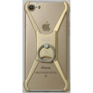 iPhone8/7/6s/6 ケース CRYSTAL ARMOR  X Ring アルミバンパー ゴールド iPhone 8/7/6s/6