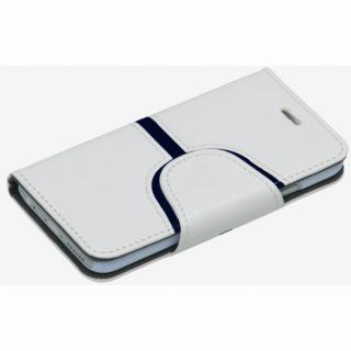 【iPhone6ケース】コズミックブルー PUレザー 手帳型ケース Yライン ホワイト iPhone 6ケース_2