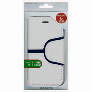 【iPhone6ケース】コズミックブルー PUレザー 手帳型ケース Yライン ホワイト iPhone 6ケース_4