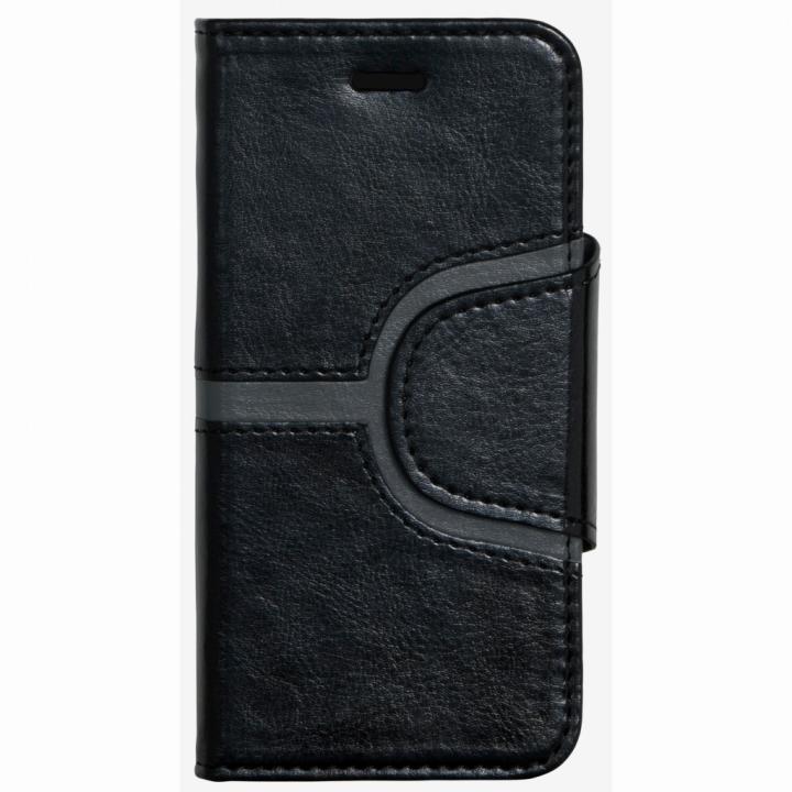 【iPhone6ケース】コズミックブルー PUレザー 手帳型ケース Yライン ブラック iPhone 6ケース_0