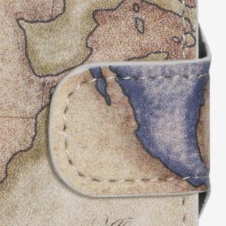 【iPhone6ケース】コズミックブルー PUレザー 手帳型ケース 地図/アトランティック ブラウン iPhone 6ケース_1