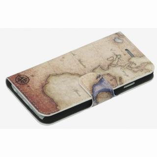 【iPhone6ケース】コズミックブルー PUレザー 手帳型ケース 地図/アトランティック ブラウン iPhone 6ケース_2