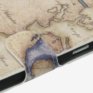 【iPhone6ケース】コズミックブルー PUレザー 手帳型ケース 地図/アトランティック ブラウン iPhone 6ケース_3