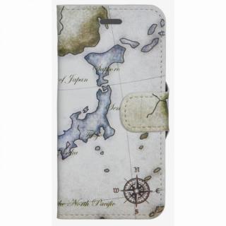 コズミックブルー PUレザー 手帳型ケース 地図/日本 グレー iPhone 6ケース